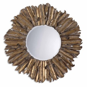 Hemani Antiqued Gold Mirror | The Uttermost Company