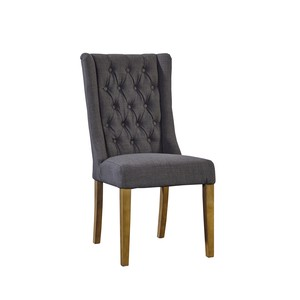 Tufted Gray Linen Side Chair | Furniture Classics