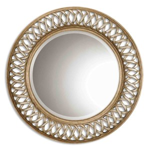 Entwined Antiqued Gold Mirror | The Uttermost Company