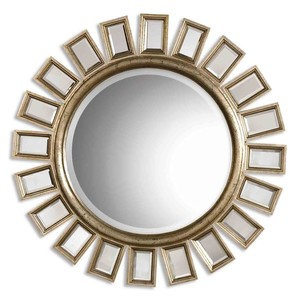 Cyrus Round Silver Mirror | The Uttermost Company