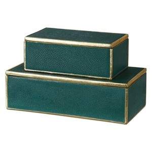 Karis Emerald Green Boxes - Set of Two | The Uttermost Company