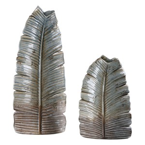 Invano Leaf Vases - Set of Two | The Uttermost Company
