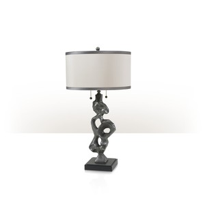 Pewter Sculpture Lamp | Theodore Alexander