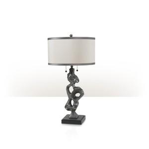 Pewter Sculpture Lamp   Theodore Alexander