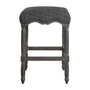 Aiden Brown Gray Barstool | The Uttermost Company