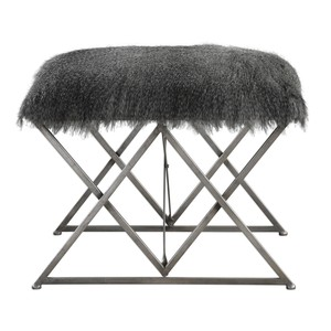 Astairess Fur Small Bench | The Uttermost Company