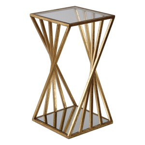 Janina Gold Dimensional Accent Table | The Uttermost Company
