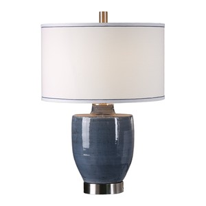 Sylvaine Blue/Gray Glazed Lamp | The Uttermost Company