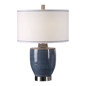 Sylvaine Blue/Gray Glazed Lamp