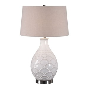 Camellia Glossed White Table Lamp | The Uttermost Company
