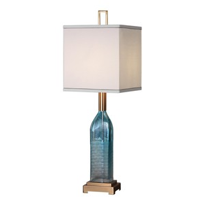 Annabella Teal Glass Accent Lamp | The Uttermost Company
