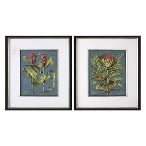 Rhubarb And Artichoke Floral Prints - Set of Two | The Uttermost Company