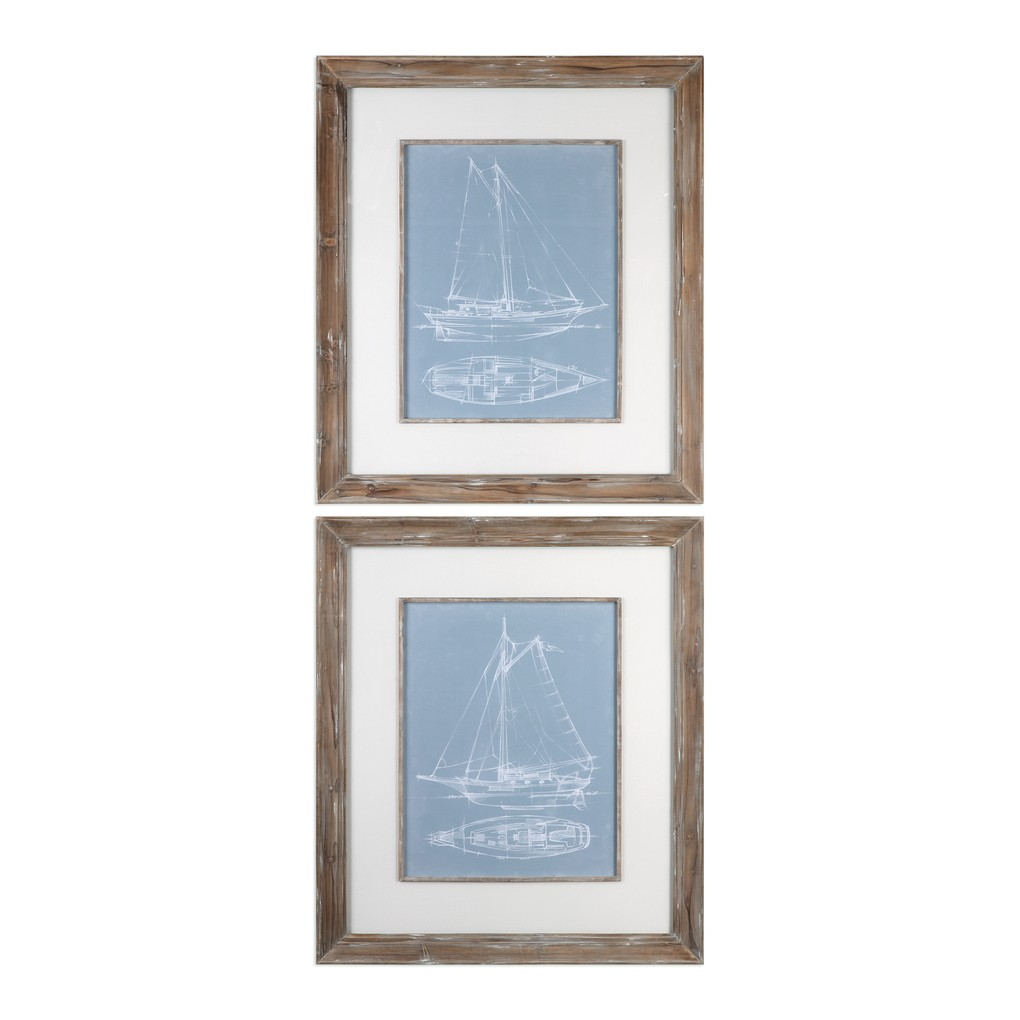 Yacht Sketches - Set of Two | The Uttermost Company
