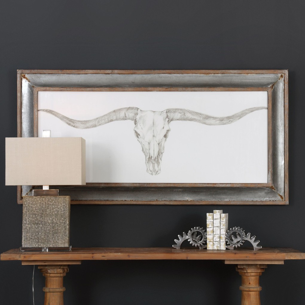 Western Skull Mount Print | The Uttermost Company