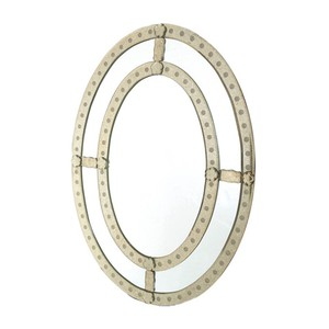 Oval Antique Trimmed Mirror | Park & Main