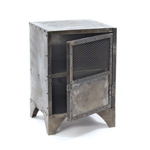 Vintage Steel Shoe Locker Accent Cabinet | Park & Main