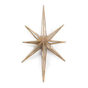 "Antique Gold ""Twinkle"" Star 