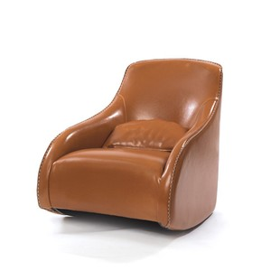 Light Brown Baseball Glove Leather Chair