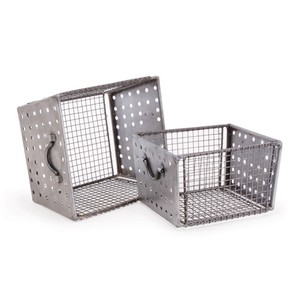 Set of Two Industrial Wire Bins | Park & Main