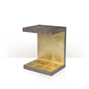 Metallic Signature End Table
