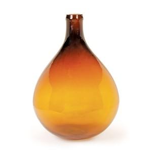 Amber Demijohn Vase