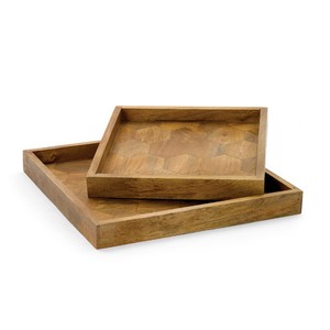 Set of Two Honeycomb Trays | Park & Main