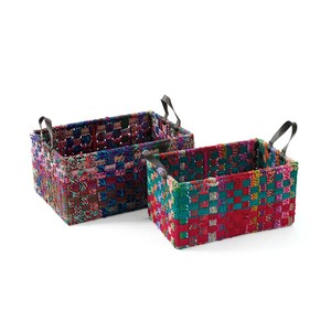 Rectangle Woven Fabric Baskets | Park & Main