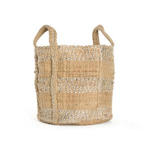 Two-Toned Jute Basket
