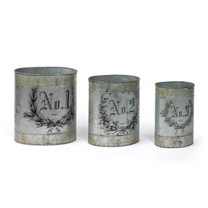 Set of Three French Numbered Tins | Park & Main