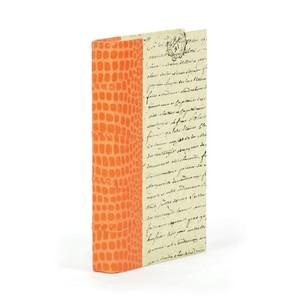 Single Faux Croc Orange Book