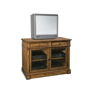 Entertainment Console with Glass Doors