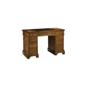 Oval Inlay Top Pedestal Desk