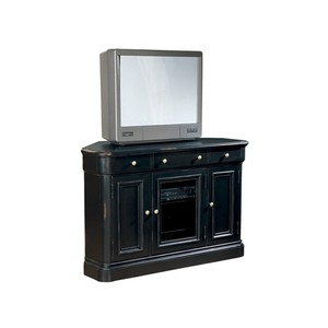 Corner Entertainment Center Louis Philippe Finish