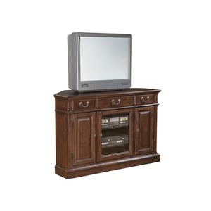 Weathered Cherry Corner Entertainment Center