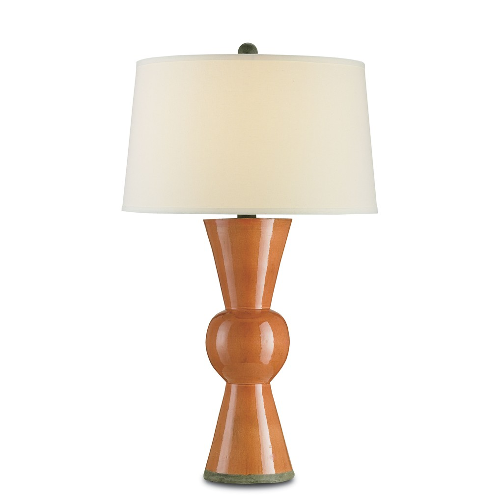 Upbeat Table Lamp, Orange   Currey & Company
