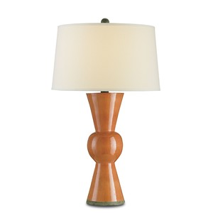 Upbeat Table Lamp, Orange | Currey & Company