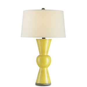 Yellow Upbeat Table Lamp | Currey & Company