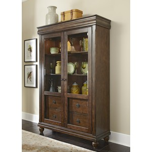 Traditional Display Cabinet with Glass Doors | Liberty Furniture