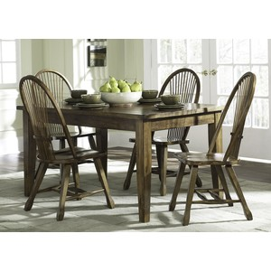 Solid Top Leg Table | Liberty Furniture