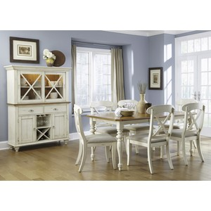 Eight Piece Rectangular Table Dining Room Set
