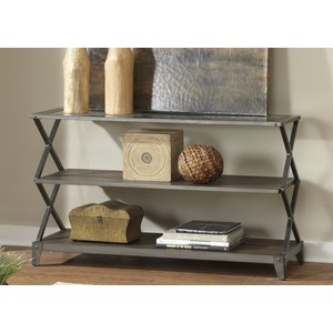 Industrial Wire Brushed Sofa Table | Liberty Furniture
