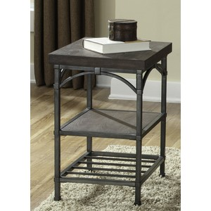 Rustic Metal Chair Side Accent Table | Liberty Furniture