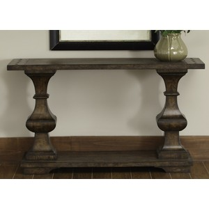 Spanish Planked Sofa Table