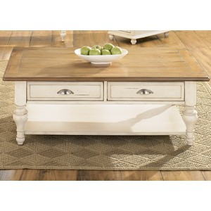 Country Cottage Rectangular Cocktail Table | Liberty Furniture