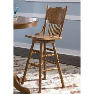 "30"" Press Back Barstool 