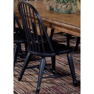 Bow Back Side Chair - Black | Liberty Furniture