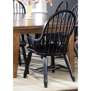 Bow Back Arm Chair in Black | Liberty Furniture