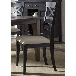 X Back Side Chair - Black | Liberty Furniture