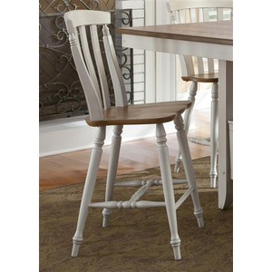 Slat Back Counter Chair | Liberty Furniture