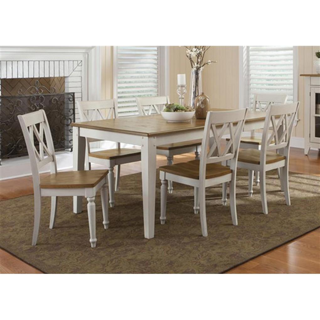 Rectangular Leg Dining Table   Liberty Furniture